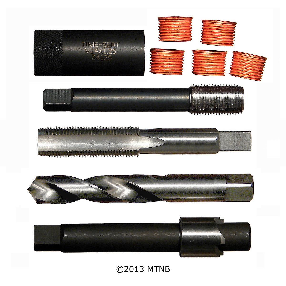 10 Pack Time-Sert 44127 M14 x 1.25 x 11 Spark Plug Inserts